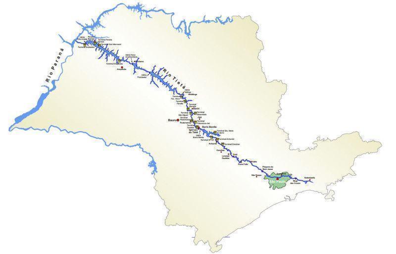 Resultado de imagem para rio tietê