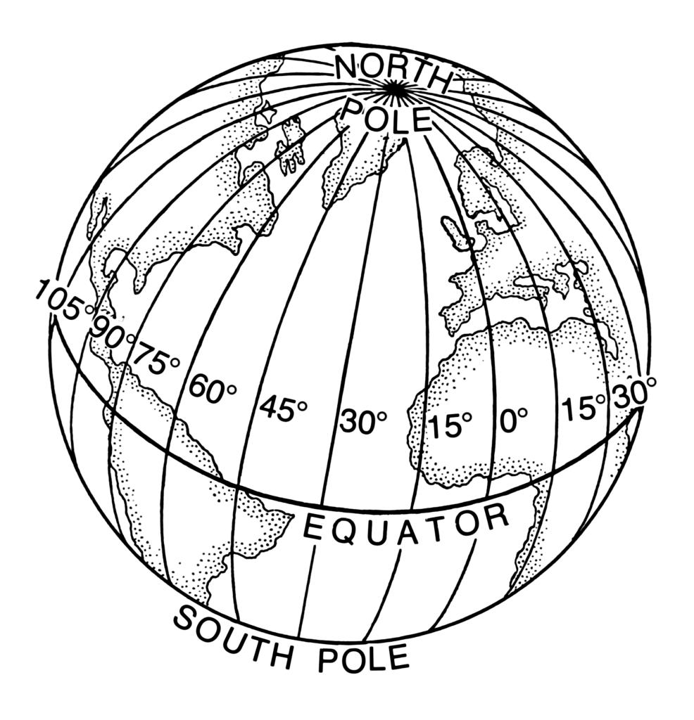 coordenadas geogr u00e1ficas  paralelos e meridianos