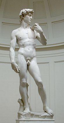 Davi, de Michelangelo. Imagem: Wikimedia Commons.