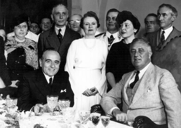 Getúlio Vargas e Franklin Roosevelt, Rio de Janeiro, ,1936. Imagem: Wikimedia Commons.