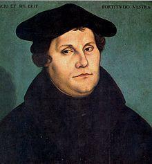 Martinho Lutero aos 46 anos de idade. Imagem: Wikimedia Commons.