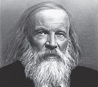 Mendeleiev. Imagem: Wikimedia commons.