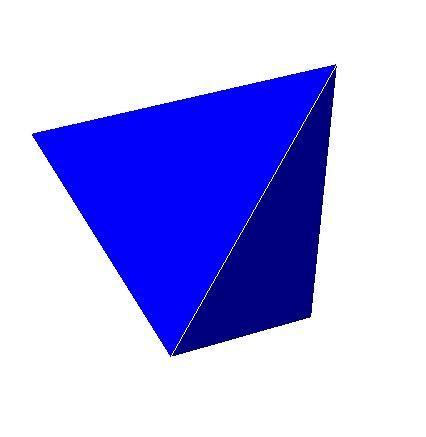 Tetraedro. Imagem: Wikimedia commons.