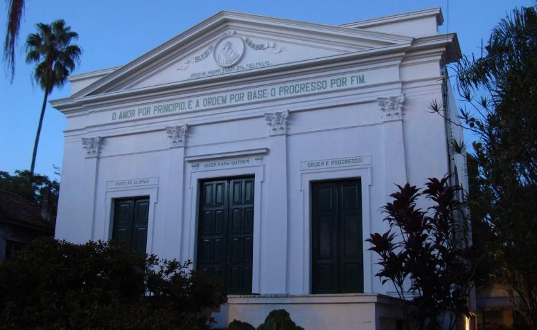 Fotografia da Igreja Positivista do Brasil.