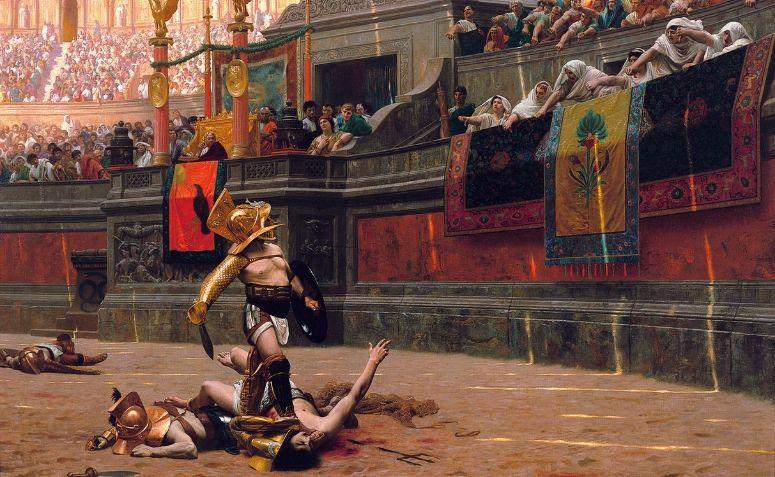 Pintura de um gladiador, de Jean-Léon Gérôme (1872)
