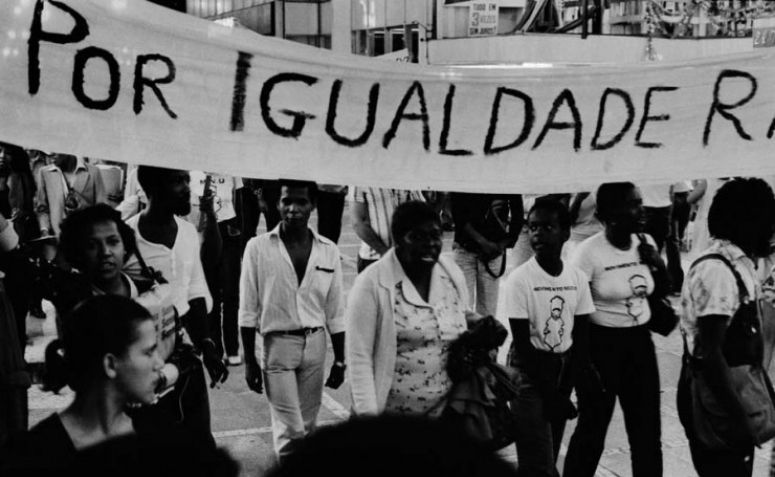 Manifestação do movimento negro em 1978