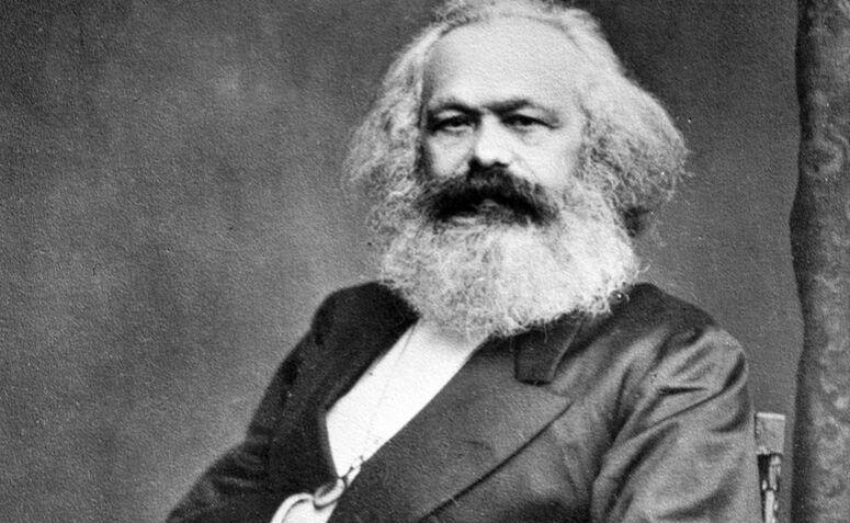 Fotografia de Karl Marx, um dos autores mais conhecidos por pensar a ideologia