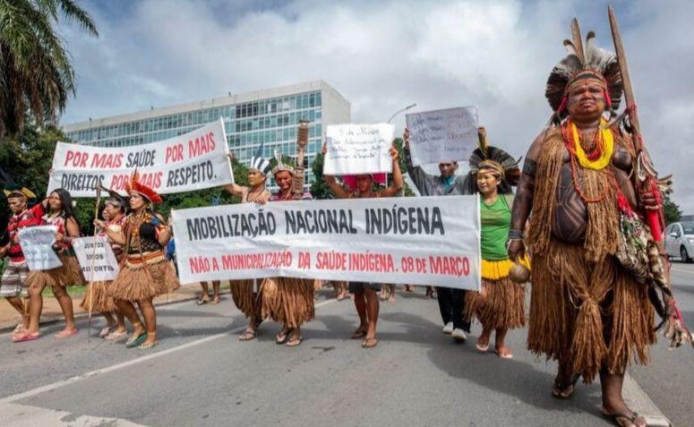Protesto do movimento indígena em 2019