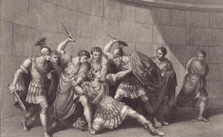 Pintura representando o assassinato de Calígula