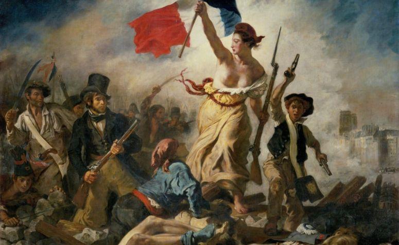 Pintura sobre a Revolução Francesa, um símbolo do liberalismo econômico