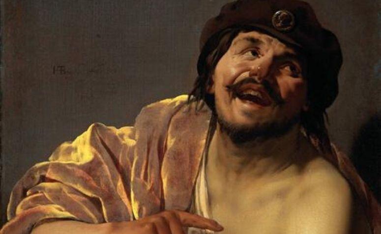 Pintura representando Demócrito