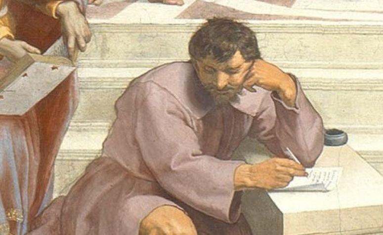 Pintura representando Heráclito
