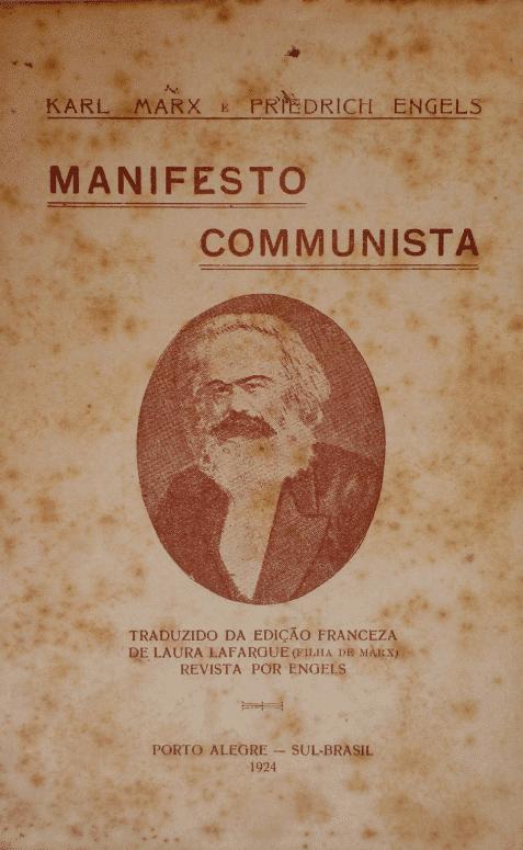 Capa da primeira edição do Manifesto Comunista, de Karl Marx e Friedrich Engels