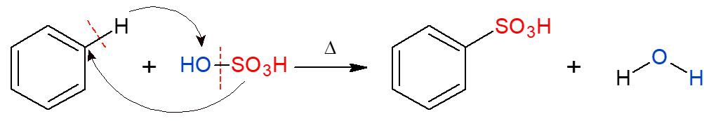 reação de sulfonação