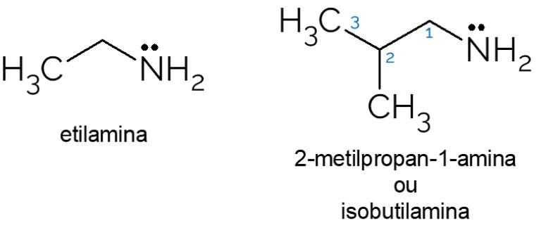 exemplos amina primaria